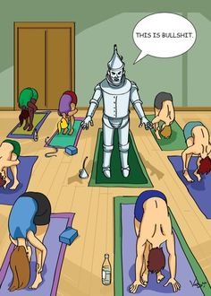 Tin Man Yoga (00394R) from my the Vash Designs greeting card line
