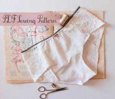 Lingerie Panties Sewing Pattern Ohhh Lulu 1302 Grace Hipster Panties via Etsy
