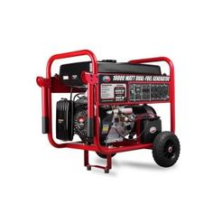 WEN 11,000/8,300-Watt 120V/240V Dual Fuel Gasoline and Propane Powered Electric Start Portable Generator with Wheel Kit-DF1100T - The Home Depot Water Wheel Generator, Dual Fuel Generator, Portable Generator, Generator For Home, Propane Generator, Power Backup, Emergency Power, Thing 1, Mobile Home