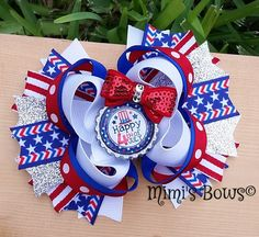 Hey, I found this really awesome Etsy listing at https://www.etsy.com/listing/234010065/fourth-of-july-boutique-hair-bow