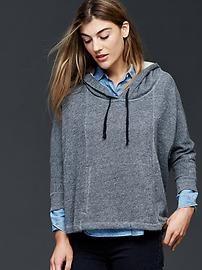 Fleece cape hoodie