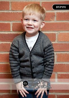 Boy's Cardigan in DY Choice 4ply with wool (DYP191) - Digital Version | Deramores