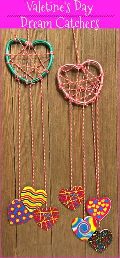 Valentine's Day Dream Catchers. The kids and I spent our Valentine's learning about the origin of dream catchers and making our own dream catcher craft. Super fun and easy craft to celebrate the holiday! | Nurture Her Nature