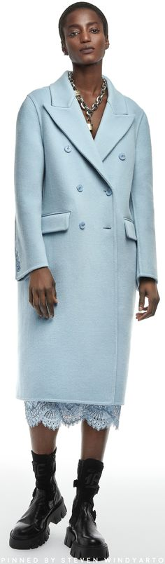High Fashion Outfits, Blue Fashion, Fashion 2020, Autumn Fashion, Casual Outfits, Womens Fashion, Ermanno Scervino, Winter Outfits, Winter Clothes