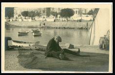 IL PESCATORE ALLE RETI (F18)MESTIERI-MARE-VECCHIA FOTO D EPOCA/OLD PHOTO-ANNI 30