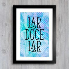 Poster Lar Doce Lar - Encadreé Posters
