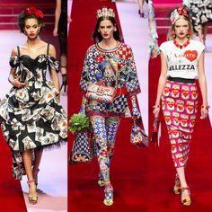 """La impactante colección """"Reina de Corazones"""" de Dolce & Gabbana, un evento secreto para #Millennials, Prints de comida mediterránea made in Italy y  looks encorsetados en total black #DGSecretShow #Moda #Fashion Dolce & Gabbana, Los Millennials, Total Black, Peplum Dress, Capri Pants, Dresses, Fashion, Mediterranean Food, Queen Of Hearts"""