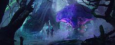 mysterious jungle, Raphael Ragimov on ArtStation at https://www.artstation.com/artwork/0gVx8