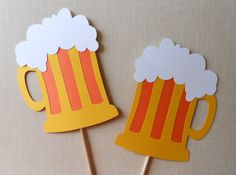 Beer Mug Photo Booth Props. Beer Mug Photo Props. Beer. Birthday // Wedding // Parties // Bachelor and Bachelorette. Drinks. Set of 2.