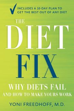 "My review of The Diet Fix by Yoni Freedhoff: ""THE DIET FIX is the real deal: a book that challenges the conventional wisdom about losing weight. This compassionate and hope-filled guide serves up the secrets to achieving — and maintaining — the weight that's right for you. Forget the quick fix: THE DIET FIX will give you the tools you need to (finally) make peace with food."" [ Reviewed from galleys prior to publication ]"