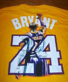 dcf4cc414 LOS ANGELES LAKERS KOBE BRYANT NBA Black Mamba T-Shirt 2XL NEW BASKETBALL