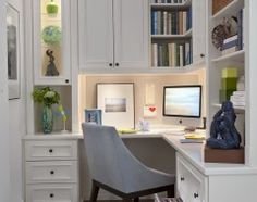 love this--  contemporary home office by transFORM | The Art of Custom Storage