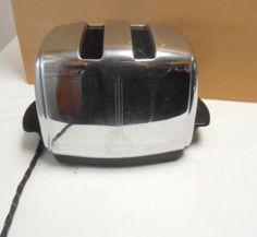 Mid Century Sunbeam Toaster Chrome Model T-20 1950's Auto Drop Toaster