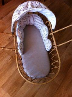couffin en rotin cabriolet vintage pour bébé : Chambre d'enfant, de bébé par…