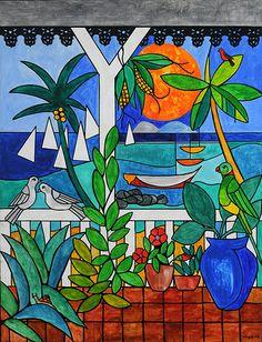 La Galerie des Arts, Ile Maurice - Les laques de l' artiste peintre mauricien VACO - Tableaux - Mauritius