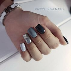 32 Black Square Nails Design You Should Know in 2019 Summer Trend - Top Nails Art Dream Nails, Love Nails, Pink Nails, Pretty Nails, My Nails, Black Nails, Manicure Nail Designs, Nail Manicure, Nails Design