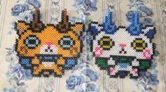 Yo-Kai Watch perler beads