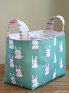 Divided Fabric Easter Basket