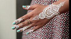 So beautiful, white henna
