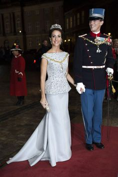 Prince Joachim and Princess Marie of Denmark attends the traditional 2014 gala dinner at Christian VIIs palace, Amalienborg.