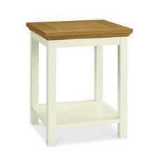 Rustic Two Tone Lamp Table With Shelf - £89 | brandinteriors.co.uk