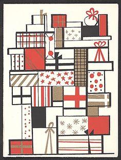 Citation: Gordon Kensler christmas card to Kathleen Blackshear, 196-? . Kathleen Blackshear and Ethel Spears papers, Archives of American Art, Smithsonian Institution.