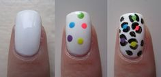 Easy Cheetah look ~ This look can be achieved with a dotting tool. #nails #NailArt #NailDesigns