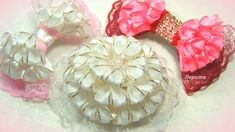 Бантики и цветы из лент, канзаши МК
