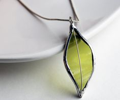 Stained Glass Jewelry Necklace  Re Purposed Wine Bottle