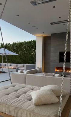 Dream House Interior, Luxury Homes Dream Houses, Dream Home Design, Modern House Design, My Dream Home, Home Interior Design, Mansion Interior, Balkon Design, Dream Apartment