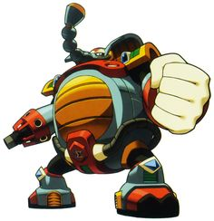 Flame Mammoth, known in Japan as Burnin' Noumander (バーニン・ナウマンダー Bānin Naumandā), is a Maverick in Mega Man X based on the Palaeoloxodon naumanni. He was a Maverick Hunter from the 4th Overland Unit under Sigma. He had an arrogant and cocky attitude, and was extremely proud of his large size and strength. His tendency to look down on those smaller and weaker than him, put him on bad terms with his subordinates, as well as highlighting the potential cause for the tension with Chill Penguin....