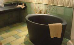 Earthcrete - heated Japanese tub.