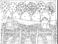 RUG HOOK PAPER PATTERN Folk Art Farm by Karla G