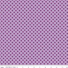 Riley Blake Lavendar w/Purple Dots 568 by DivinesSewingNook1