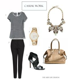 Casual Work outfit with Statement Necklace