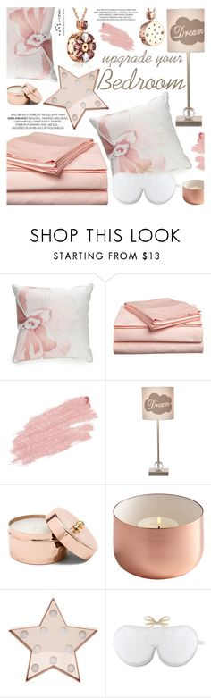 """""""Upgrade Your Bedroom With $500"""" by totwoo ❤ liked on Polyvore featuring interior, interiors, interior design, home, home decor, interior decorating, Biltmore, Jane Iredale, New Look and Holistic Silk"""