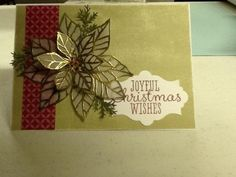 Embossed Poinsetta by Kay-Kay - Cards and Paper Crafts at Splitcoaststampers