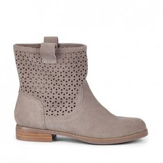 Women's Grey Suede 3/4 Inch Suede Boot | Kaye by Sole Society