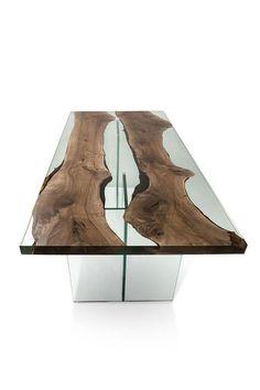 Hudson 250 Epoxy Resin Dining Table with Acrylic Base Hudson 250 Epoxidharz Esstisch mit Acrylbasis Resin Furniture, Home Decor Furniture, Table Furniture, Epoxy Resin Table, Wood Resin, Wood Table Design, Table Designs, Wooden Table Top, Woodworking Furniture Plans