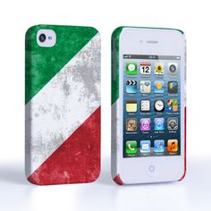Caseflex iPhone 4 / 4S Retro Italy Flag Case | Mobile Madhouse #Gift #Present #Apple #AppleiPhone4 #iPhone4 #iPhone #Case #Cover #HardCase #PhoneCover #Retro #Flag #Distressed #Italy