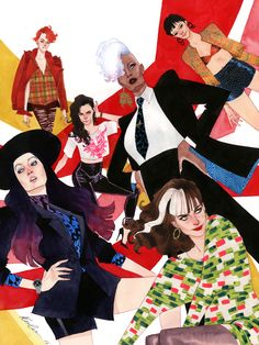 """""""When the new X-men lineup was announced I, of course, thought it was amazing and refreshing and about damn time. It wasn't until a friend of mine brought the new team up again that the idea for another X-fashion developed.""""-Kevin Wada"""