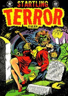 Startling Terror Tales - Horror Comic Book - Cover Poster –  http://greenhillmedia.blogspot.com/2015/01/startling-terror-tales-comics-cover.html