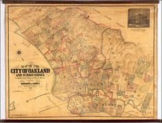 Oakland/Brooklyn Map Woodward and Gamble . . . 1888