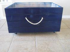 DIY storage bin, project for Rich! Storage Box On Wheels, Kids Storage Bins, Diy Toy Storage, Rolling Storage, Crate Storage, Closet Storage, Storage Organization, Diy Toy Box, Toy Boxes