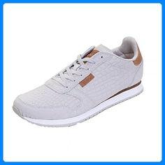 Woden Ydun Croco Womens Baskets UK8 EU42 US11.5 050 Light grey - Sneakers für frauen (*Partner-Link) Great Deals, Partner, Link, Sneakers, Baskets, Shopping, Shoes, Fashion, Woman