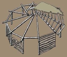 (via outdoor classrooms) ancient shelter styles - Art References