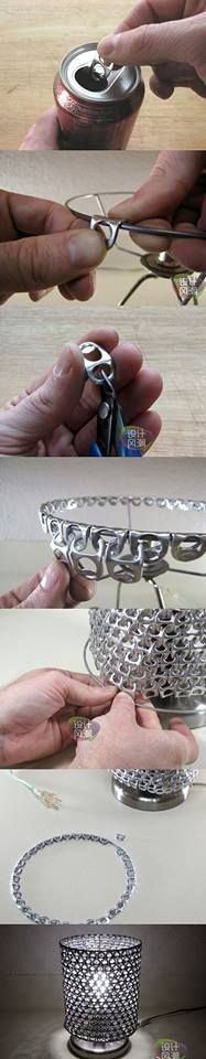 DIY: Unique Lamp by Using Soda Can Tabs