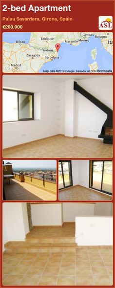 Apartment in Palau Saverdera, Girona, Spain Girona Spain, Fitted Wardrobes, Apartments For Sale, Entry Doors, Terrace, Bedroom, Building, Furniture, Home Decor