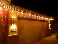 Gingerbread House, We decorated the outside of our house to look like a gingerbread house. , Holidays Design