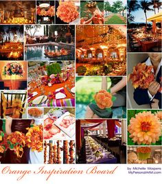 Another Orange, Wedding Inspiration, Board, Color